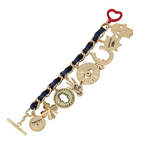 Betsey Johnson Evil Eye Charm Bracelet