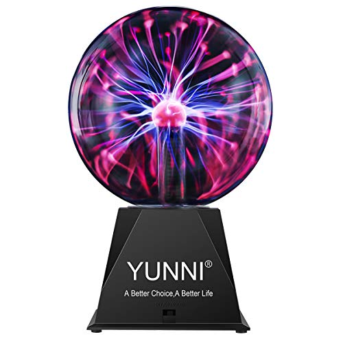 YUNNI Plasma Ball , 7'' AC Plasma Globe Lamp with Touch & Sound...