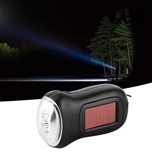 Rosvola - Linterna de bolsillo solar recargable, suministros de emergencia, multiusos, linterna solar dinamo alimentada por energía solar, para camping al aire libre