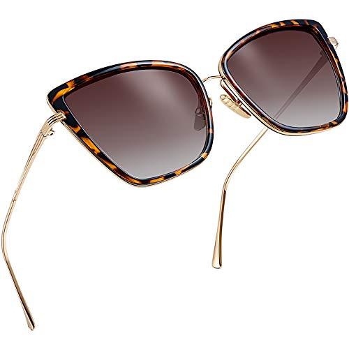 Gafas de sol para mujer Redondo Grande De Lujo Negra de estilo vintage y retro para Damas Diseñador Niña UV400