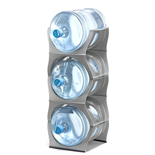Stackable Water Bottle Storage Rack Best Water Jugs 5 Gallon Organizer. Jug Holder for Kitchen...