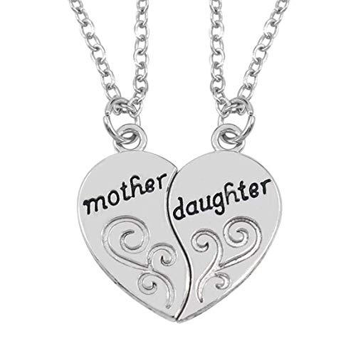 TOPCOMWW moeder en dochter lieve woord hanger ketting sieraden 1 paar