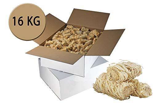 JAVA Anzünder, Kaminanzünder, Grillanzünder, Ofenanzünder aus Bio-Holzwolle, 16 kg