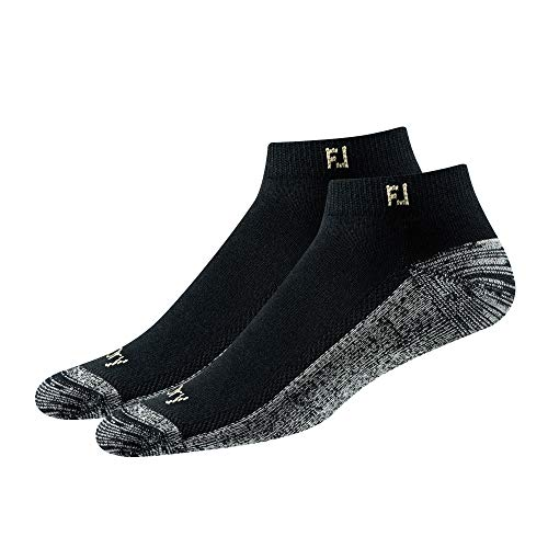FootJoy Men's ProDry Sport 2-Pack Socks Black Fits Shoe Size 7-12