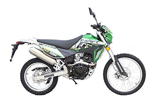 K-Sport Motorrad »Terra Enduro 125«, 125 ccm, 99 km/h, Euro 4, 125 ccm, 99 km/h, 11,42 PS (Grün)