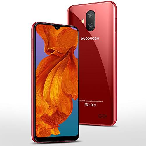 Smartphone 5,5 '' Zoll Bildschirm 16GB/128 ROM Erweiterbar Android 9.0 Zertifiziert von Google GMS Smartphone ohne Vertrag Günstig 3400mAh Quad Core Dual-SIM 8Mp+5Mp Kamera 4G LTE Android Handy(Rot)