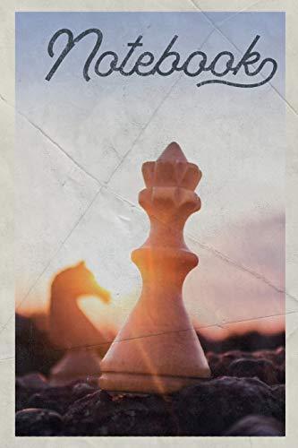 Notebook: Schach Ajedrez convenient Composition Book Journal Diary for Men, Women, Teen & Kids Vintage Retro Design for chess endgame solver notes