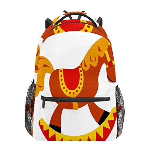 Mochila escolar, balancín, caballo, juguete, informal, para viajes, portátil, lona, para mujeres, niñas, niños, estudiantes, hombres y adultos.