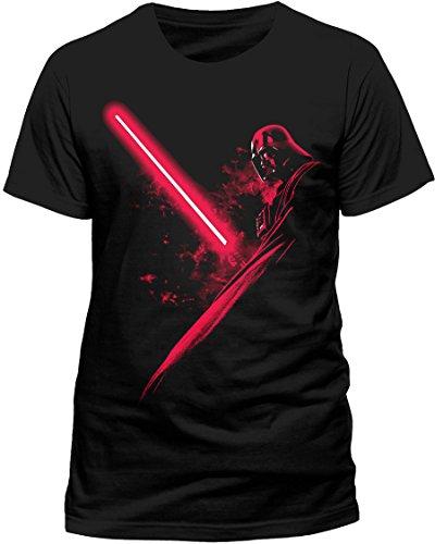 CID Herren Star Wars - Vader Shadow T-Shirt, Schwarz (Black), XX-Large (Herstellergröße: XXL)