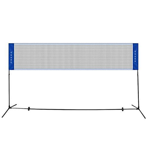 YOUKE 5.1 Metri di Lunghezza Rete da Tennis Badminton Portabile Pieghevole Altezza Regolabile 100-155 cm, Adatto ad Estero, Spiaggia