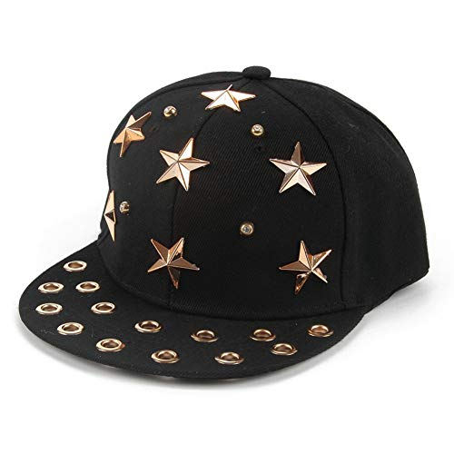 Gorra de Beisbol Primavera Verano Mujeres Hombres Black Star Rivet Gorras De Béisbol Gorras Snapback Sombreros Hip Hop