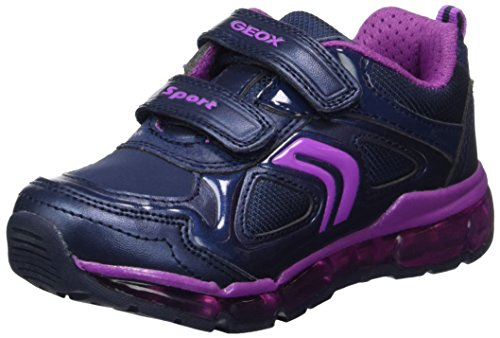 Geox Mädchen J Android Girl A Sneaker, Blau (Navy/Purple), 35 EU