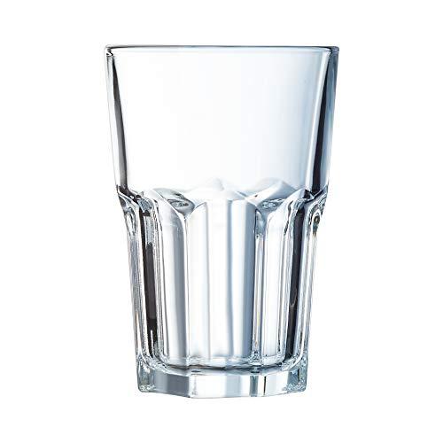 Arcoroc Granity FH42 Long drink bicchieri impilabile 420ml, senza contrassegno di riempimento, 6 Bicchiere