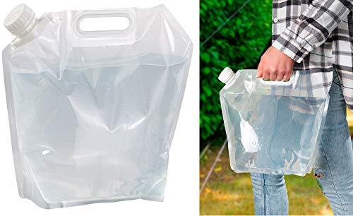 Semptec Urban Survival Technology Faltbarer Kanister: Flach Faltbarer Wasserkanister mit Tragegriff, 5 Liter, BPA-frei (Faltbarer Wasserkanister Camping)