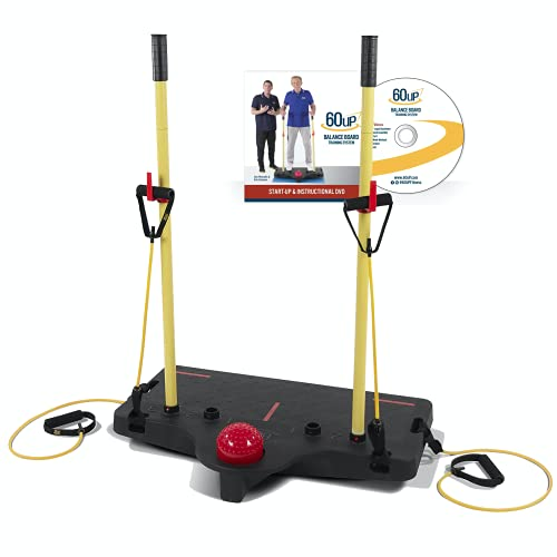 60uP Balance Training System with DVD – Patented Trainer As Seen on TV with Bob Eubanks, Balance Board Program for Seniors, Regain or Maintain Balance, Strength, Alignment & Neuro-Brain Connections