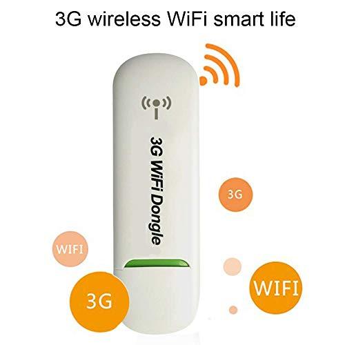 3G WiFi Dongle USB Modem Netwerk Adapter Draadloze USB Netwerk Kaart, Mini Draagbare Draadloze Router Mobiele Hotspot Auto Adapter Netwerk Hotspot Mobiele Draadloze Router Kleur: wit