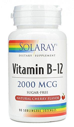 Solaray Vitamin B 12 2000mcg, 90 Lozenges
