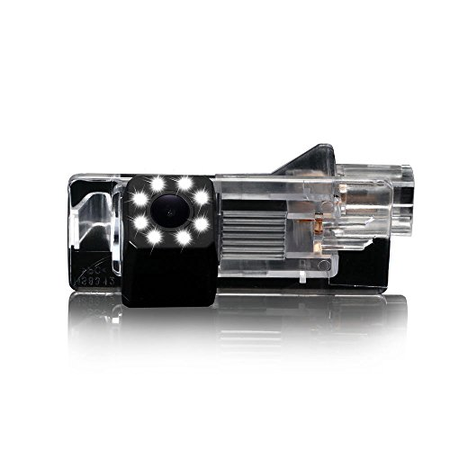 Dynavsal Caméra de recul 8 LED Vision Nocturne 170 ° Grand Angle HD Couleur étanche Caméra de recul pour Dacia Lodgy/Renault Fluence/Duster Megane/Latitude/Scenic 2/Laguna 2/3 X91/Captur/Clio 4