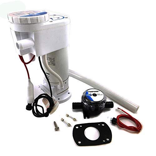 BTK - Kit de conversión y transformación de Bomba de Mano eléctrica Jabsco 29200-0120 - Recambio fácil Blanco - Servicios higiénicos - Aspirador de Agua de mar para Enjuague de inodoros
