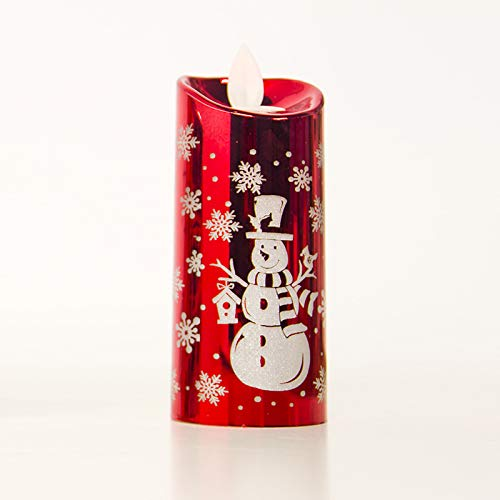 Yiwa kerstdecoratie LED windlicht kerstman sneeuwman simulatie kaars licht ornamenten S M L rood L