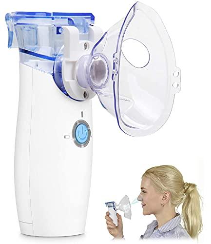 NAKE Inhalationsgerät, Inhalator Vernebler für Atemwegserkrankungen wirksam, Inhaliergerät für Kinder und Erwachsene mit Maske und Mundstück