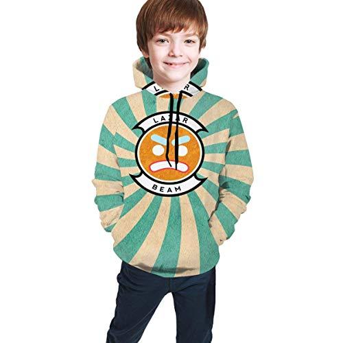 maichengxuan Lazar-Beam Hoodies Boys Girl Novelty 3D Print Hooded Sweatshirts