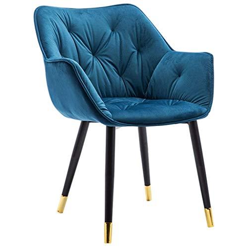 Esszimmerstuhl Weiche Rückenlehne Küchenstühle Schmiedeeisen Golden Feet Armchair für Luxus Home Makeup Chair