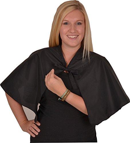 Solida Frisierumhang Taft mit Bindeband, schwarz, 1 Stück