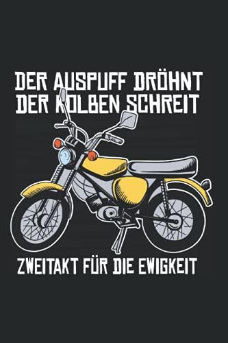 Mofa fahren Notizbuch: 120 Seiten Kariert - Mofa Moped Roller Motorrad Retro Mofaroller Spruch