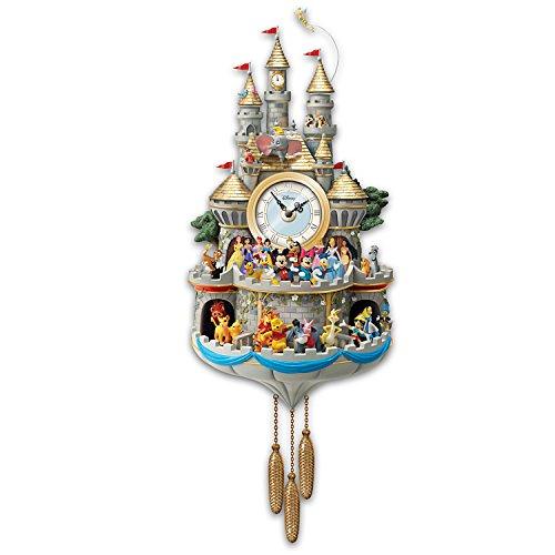 Bradford Exchange Disney Cuckoo Clock Has 43 Characters Lights Music and Motion