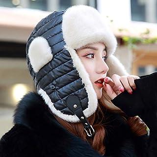 Women's Winter New Water Mink Fur Suede Caps Earmuffs Warm Down Jacket Casual Gray