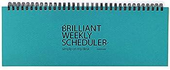 PAPERIAN Brilliant Weekly Scheduler - Wirebound Undated Weekly Planner Pad Scheduler  Blue