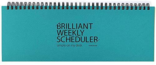 PAPERIAN Brilliant Weekly Scheduler–Planificador semanal con espiral sin fecha ,