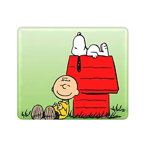 ZVEZVI Snoopy Ordenador Portátil Ratón Antideslizante Lavable Cómodo Engrosamiento 9.8x11.8 Pulgadas