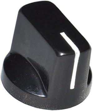 DIYPedalGearParts® - Botón de control Davies clone 1510, color negro, para pedales de efectos Pedales de efectos.