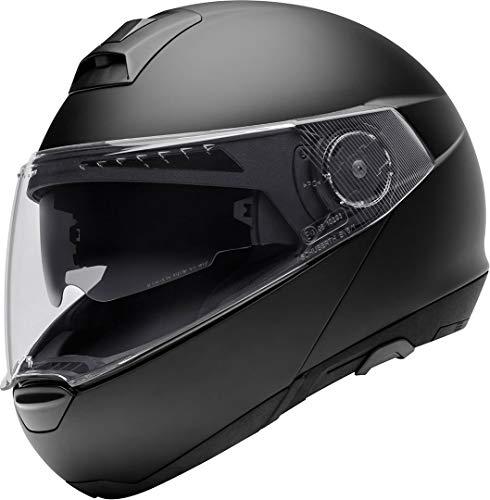 Schuberth - Caso para moto C4DVS Premium Flip Up– Casco Modular - Color amarillo XS / 53 negro