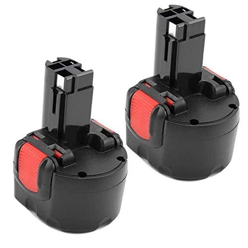 Coolsoul 2Stück BAT048 Ni-MH 9,6V 3,0Ah Ersatzakku für Bosch PSR 960 BAT100 BAT119 BPT1041 2607335272 2607335461 GSR 9.6VE-2 GSR 9.6-2 23609 32609-RT für Bosch Akku