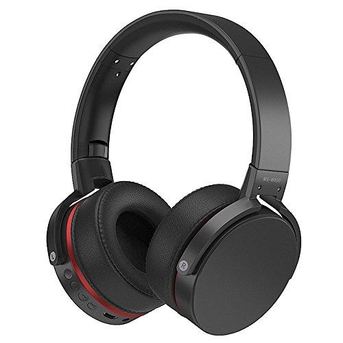 Preisvergleich Produktbild KUNCC Bluetooth Wireless Over-Ear-Stereo-Spiel Kopfhörer Wireless / mit Mikrofon Für Musik-Streaming Für iPhone 6S 6 5S 4S,  iPad,  Ipod,  Galaxy,  Smartphones Bluetooth-Geräte, Black