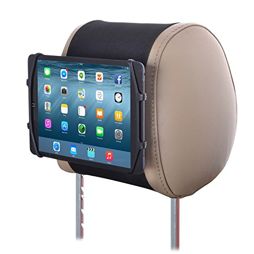 Tablet Car Mount TFY Universal Car Headrest Mount Silicon Holder for 7-10.5 Inch Tablets and iPads