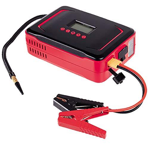 WALTER LI-ION STARTHILFE MIT Kompressor, Display, Kabel, LED-Leuchte, USB-Anschluss