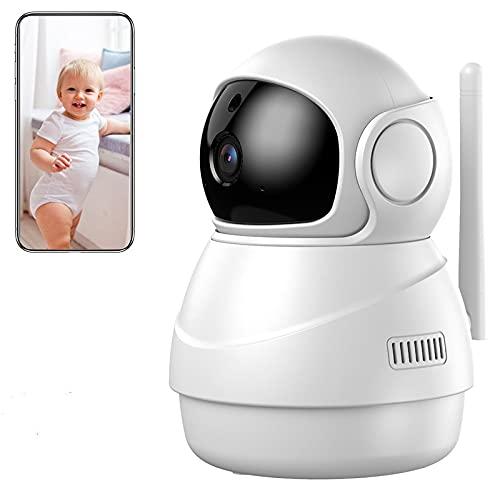 Caméra Surveillance WiFi, 1080P Caméra WiFi sans Fil avec Detection de Sonore, Caméra Surveillance Bébé avec Vision Nocturne, Detection de Mouvement, Audio Bidiectionnelle