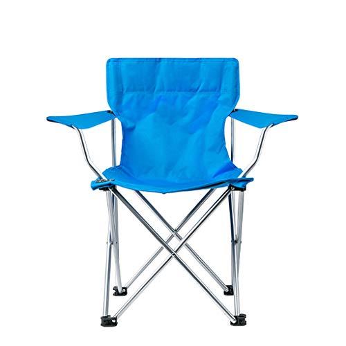 Aajolg Chaises Pliantes extérieures de Camping de Chaise, Tube de Fer épaissi par Tissu de PVC d'Oxford de 600 * 300D avec la Chaise de Camp portative de Sac de Rangement,B