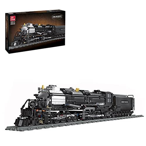 BGOOD Technic, treno a vapore con binari, 1608 mattoncini da costruzione City con trazione a vapore, modello ferroviario, giocattolo da costruzione, compatibile con Lego Technic