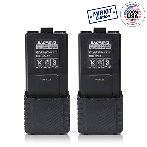 Baofeng Replacement Battery 7.4V 3800mAh for Walkie Talkies UV5 BF-F8HP UV-5R UV5R PLUS UV-5RTP BF-F8 BF-F8+ Mirkit Edition