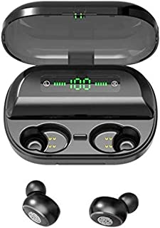 Bluetooth 5.0 earbud touch control Wireless earbuds Bluetooth 5.0, with charging box, smart LED touch control with clear s...