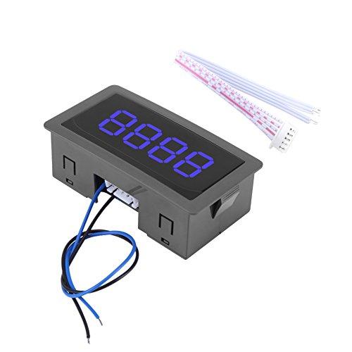 Auto Digitalzähler Mini Kundenverkehrszähler Up/Down Plus/Minus Panel Zähler Meter mit Kabel(Blau)