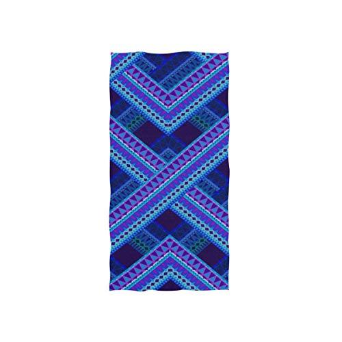 Enhusk Blue Tartan Plaid Muster Stil weichen Spa Strand Badetuch Fingerspitze Handtuch Waschlappen für Baby Erwachsene Bad Strand Dusche Wrap Hotel Travel Gym Sport 30 x 15 Zoll