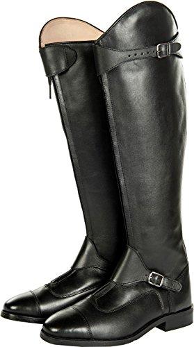 HKM Herren Reitstiefel-Polo,softleder,standardlänge/-Weite, Schwarz-9100, 38