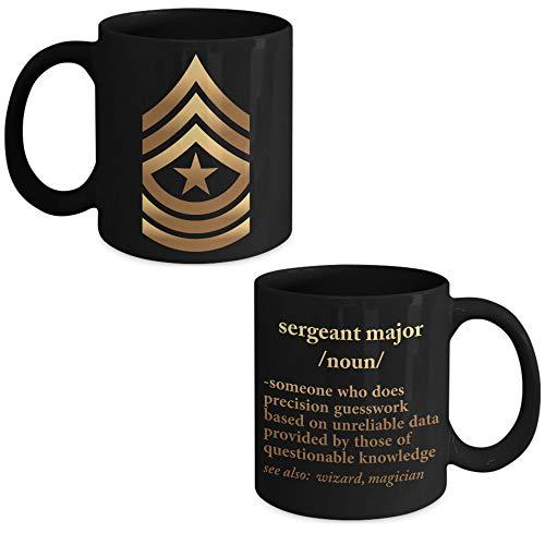 Lplpol Army Sergeant Major Definition – US Army Sergeant Major Kaffeetasse – Sergeant Major Werbegeschenk – Promoted to Sergeant Major, weiß, 15 OZ