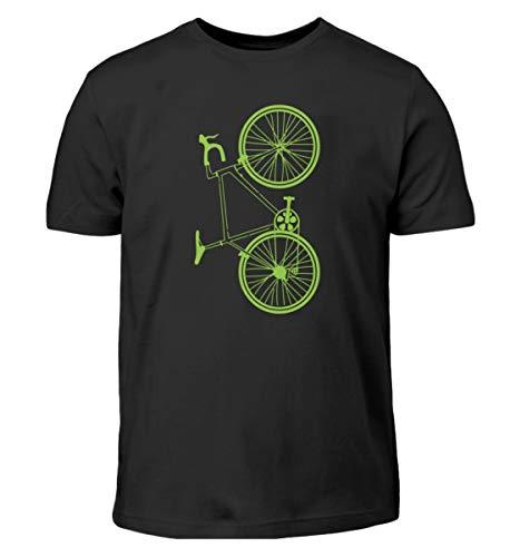 Divertido diseño de bicicleta – Gran diseño de bicicleta Biking Ciclismo MTB divertido regalo – Camiseta infantil Negro 152/164 cm